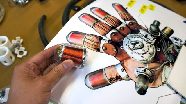 Rasputin's Mecha Glove from Hellboy